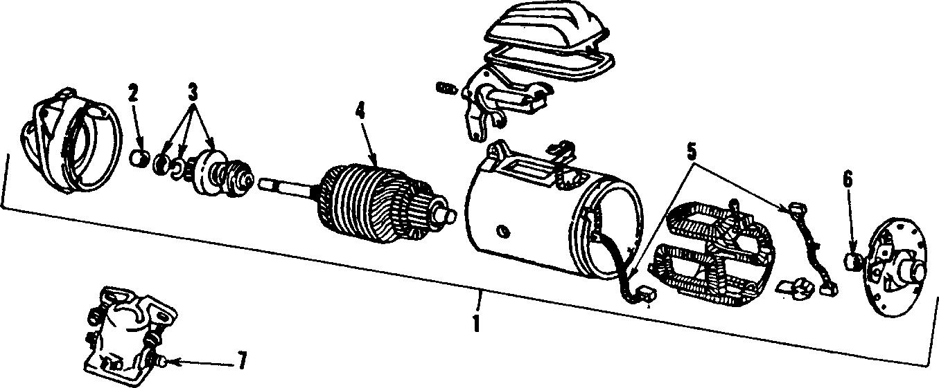 1993 ford mustang starter motor assembly  liter  amp
