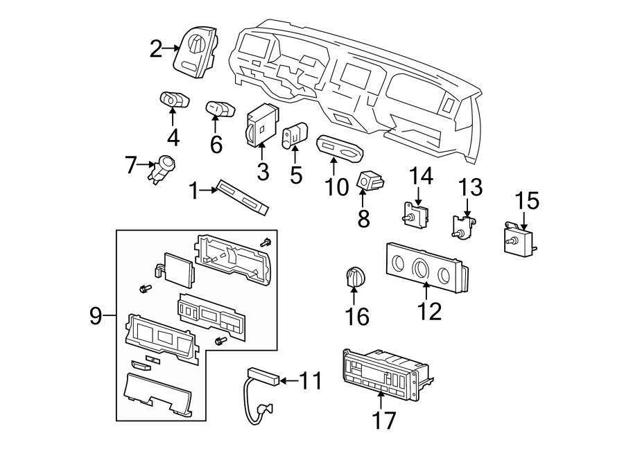 2007 Ford Crown Victoria Lock Actuator  Lock Switch  Trunk