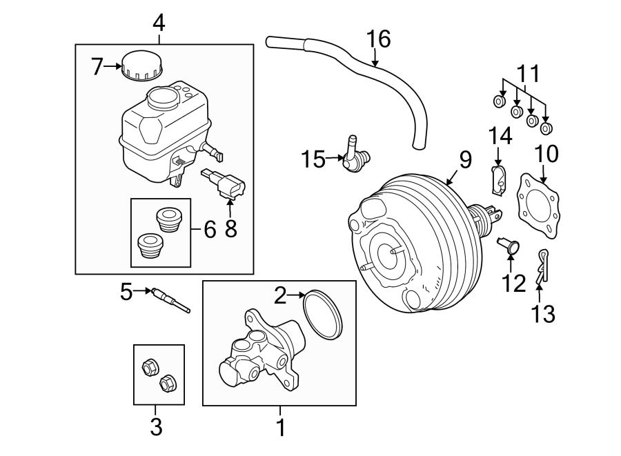 ford mustang brake master cylinder  cylinder assembly - master  mustang