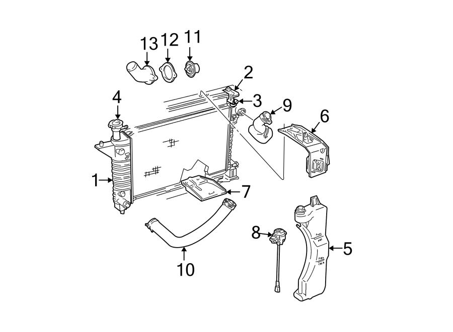 1R3Z8005DA  Ford Radiator Radiator Assembly LITER  COOLING   Lakeland Ford Online Parts