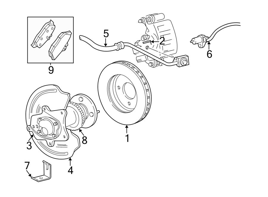 1999 ford mustang abs sensor  abs wheel speed sensor  incl