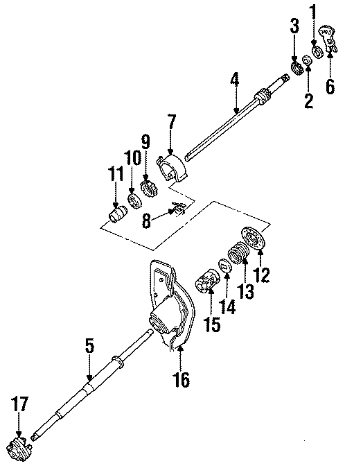 ford thunderbird steering  yoke  coupling  column  lower