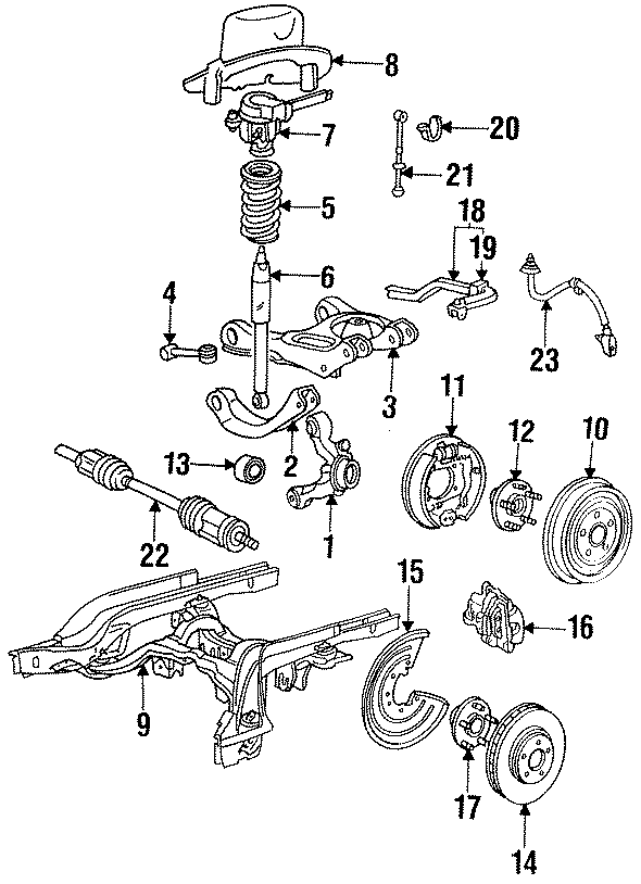 1996 ford thunderbird suspension control arm  upper