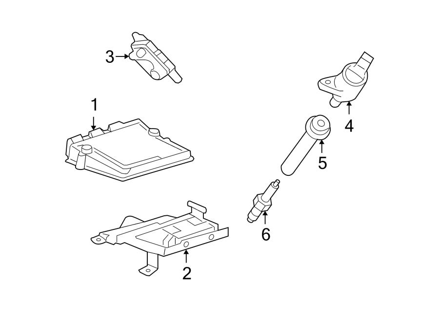 2005 Ford Freestyle Engine Control Module  Gear  Awd  Shift