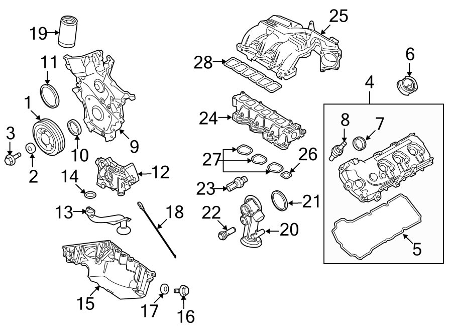 Ford Edge Gasket  Manifold  Upper  Liter  Engine