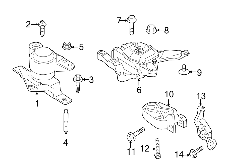 ford c-max engine mount  front