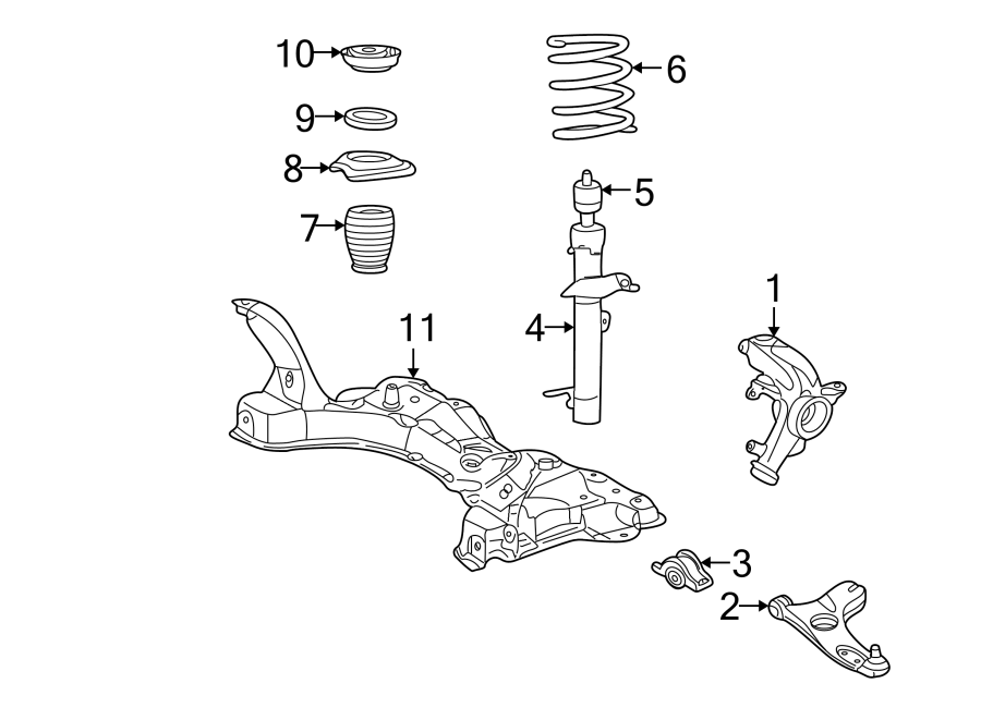 Ford Focus Steering Knuckle  Front