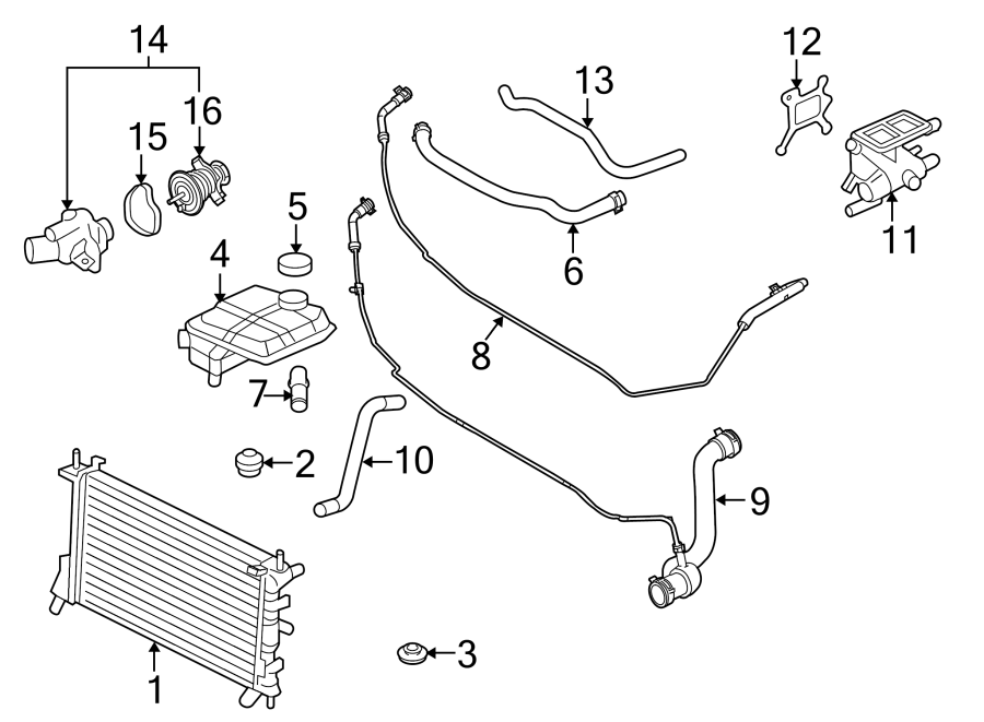 27 2001 Ford Focus Radiator Hose Diagram