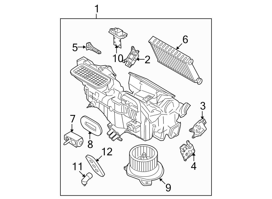 2010 Ford Focus Evaporator Assy  Heater