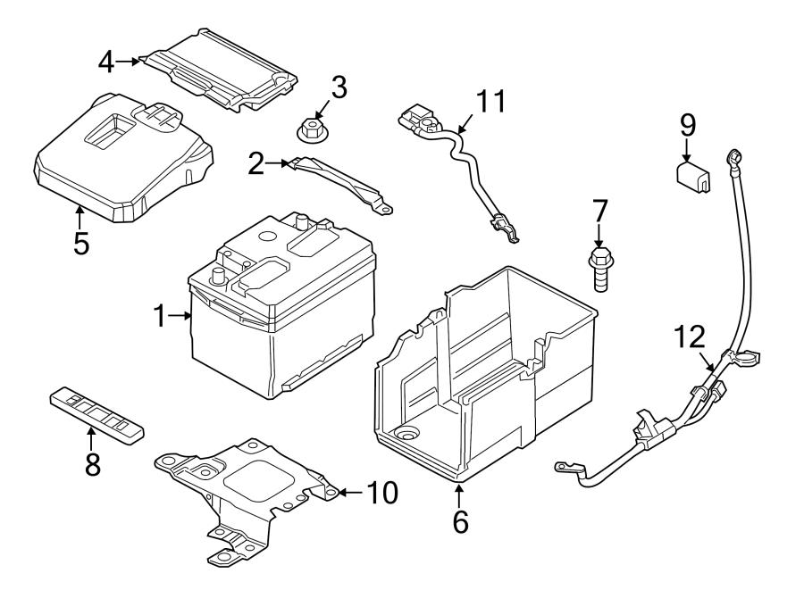 2014 ford transit connect access cover  battery cover