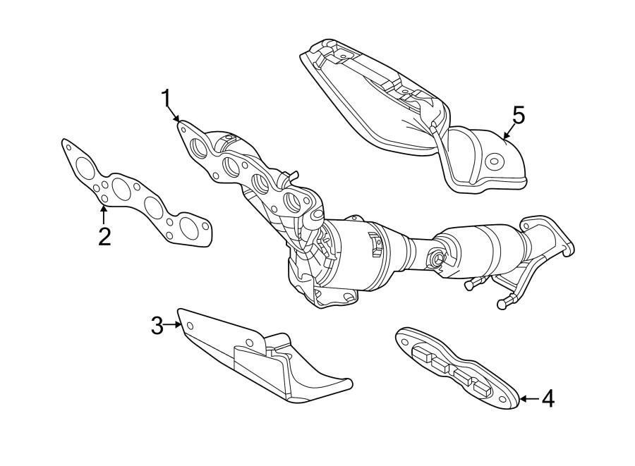 2014 Ford Focus Bracket  Catalytic   Rear  Lower   Liter