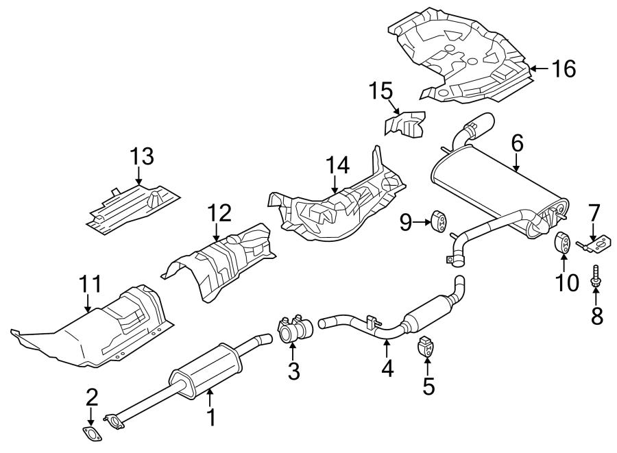 2012 ford focus heat shield  center  exhaust  emissions