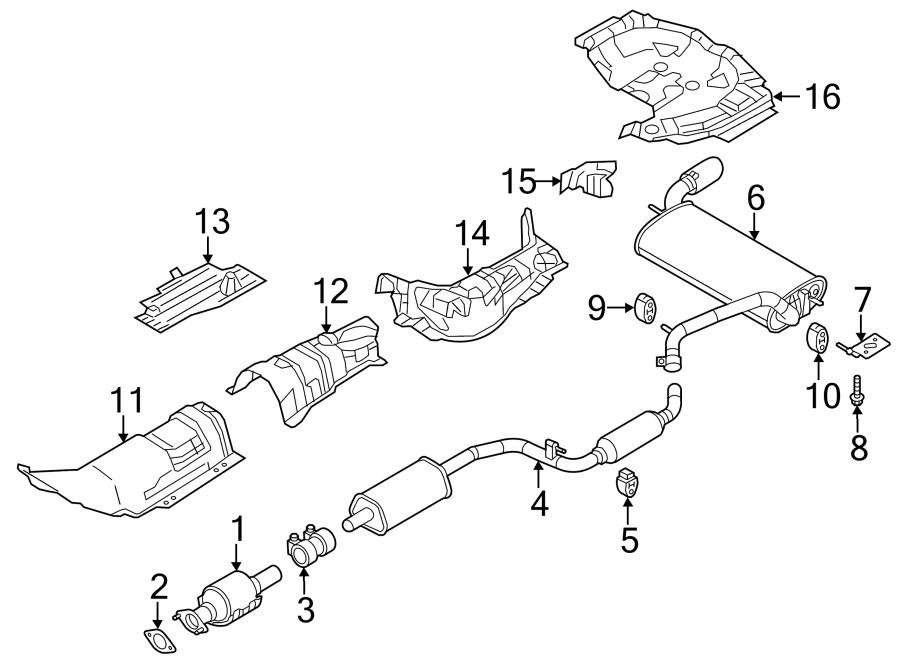 2012 ford focus exhaust system diagram