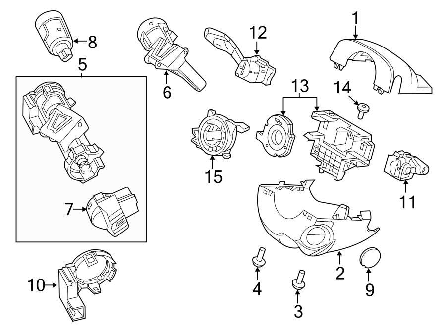 2014 ford fusion cyl  u0026 keys  ignition cyl  ignition lock cylinder  w  o keyless start to 9