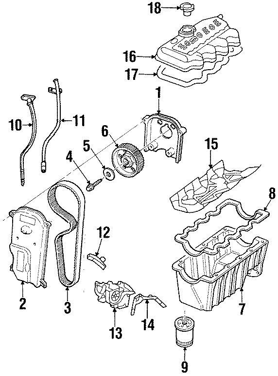 Ford Escort Engine Oil Dipstick Tube  Transaxle