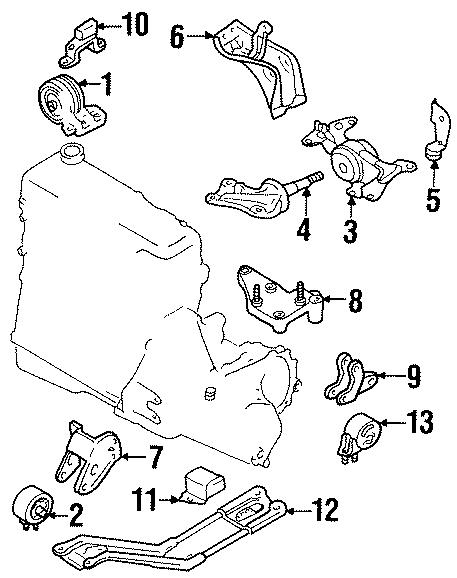 Ford Escort Insulator  Manual Trans  Rebound  Engine  Transaxle  Mounting