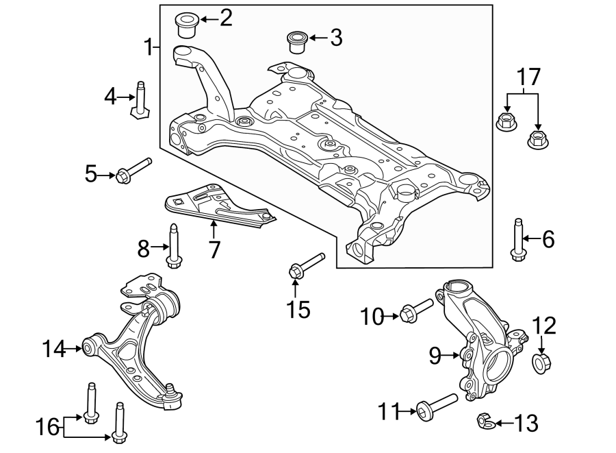 Ford Focus Insulator  Suspension  Crossmember  Bushing