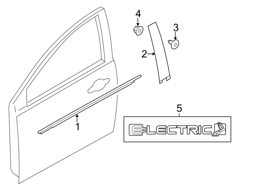 2014 Ford Focus Door Window Belt Weatherstrip  W  O Rs  W