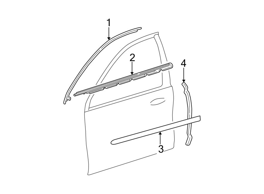 Ford Taurus Door Window Belt Weatherstrip  Sedan