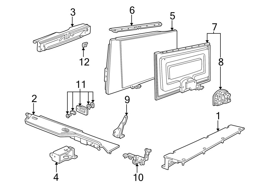 Ford Taurus Pivot Bracket  Station Wagon  Body