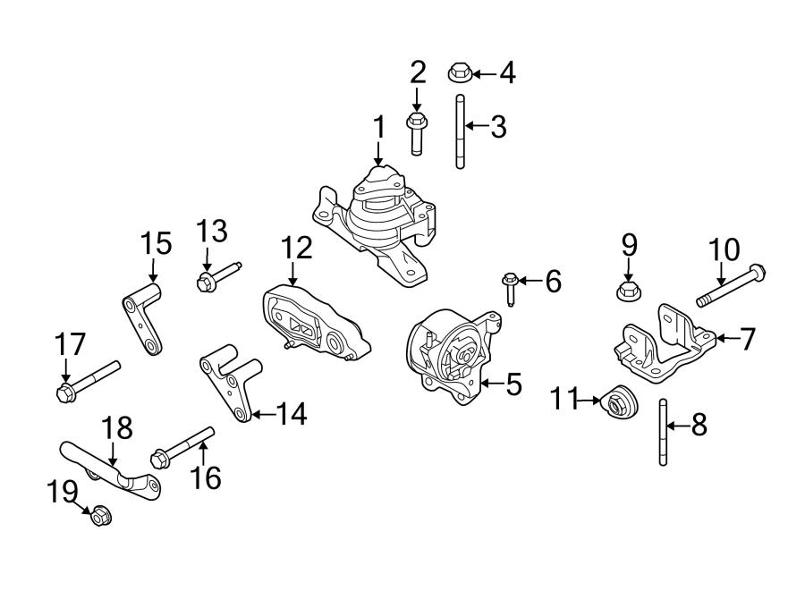 2014 ford taurus engine mount front cnglpg wcnglpg. Black Bedroom Furniture Sets. Home Design Ideas