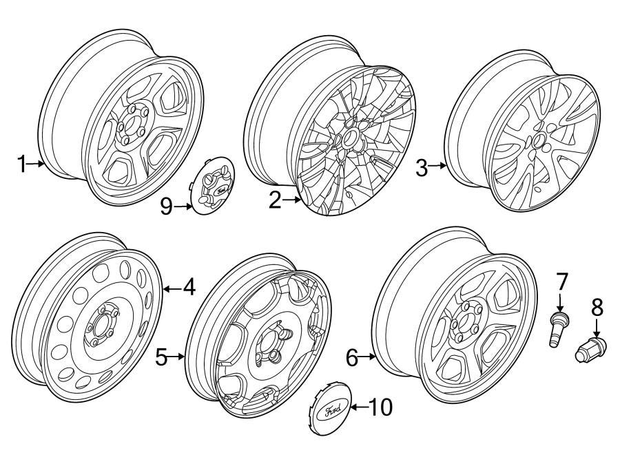 2016 ford police interceptor utility center cap  wheel cap  wheels  suspension  steel  oem