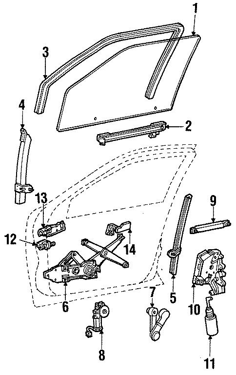 Ford Taurus Window Crank Handle