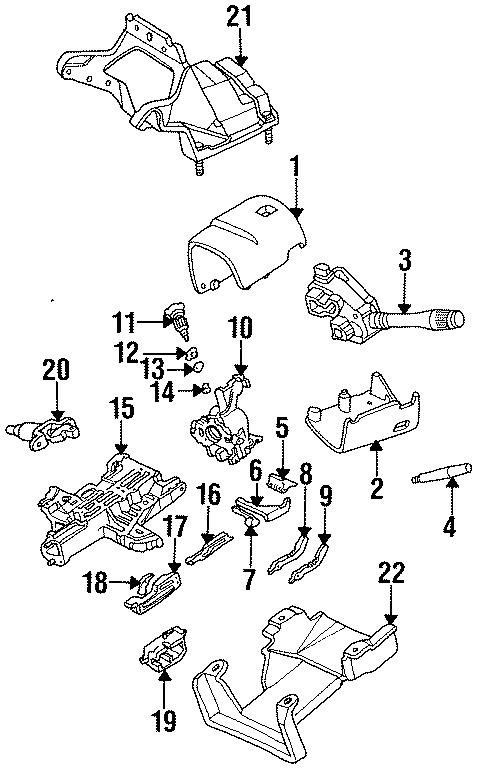 ford taurus flange   upper   column  jacket  lock housing  wheel  wtilt  steering