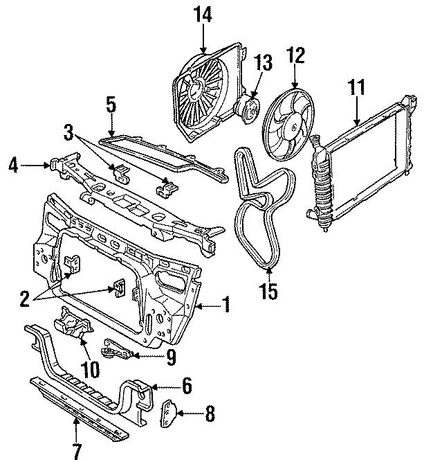 Ford Taurus Radiator Lower Bracket  Radiator Mount Bracket