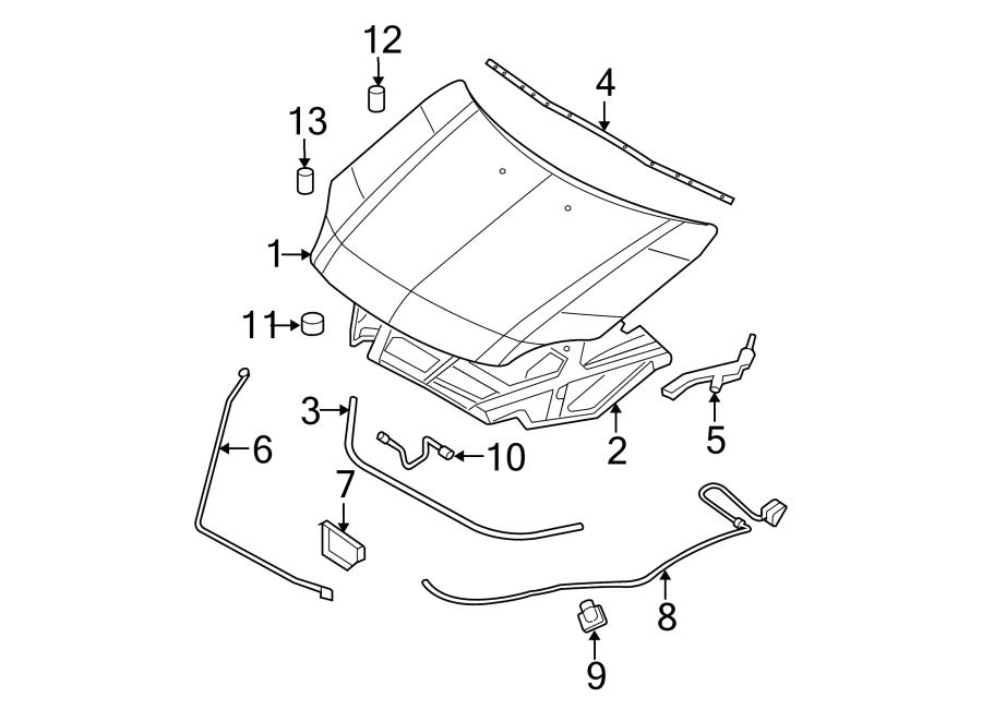 ford fusion hood insulation pad  hood insulation pad  insulator - hood