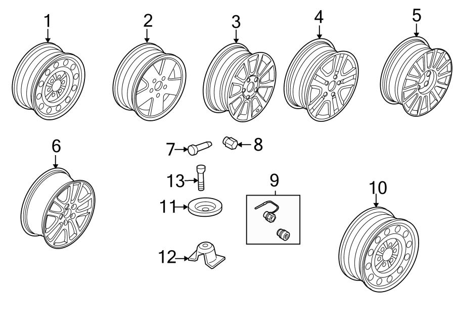 Ford Fusion Wheel  Notice  Repair  Spare
