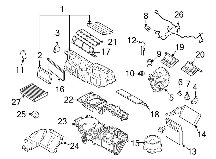 2012 Ford Fusion Hvac Blend Door Actuator  Temp  Mode
