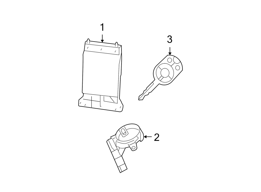 ford fusion module  lock  control  alarm  receiver  door and  anti