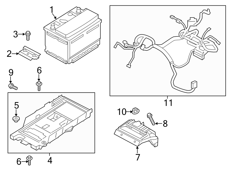 Ford Fusion Vehicle Battery  Conventional  Hybrid  Amp