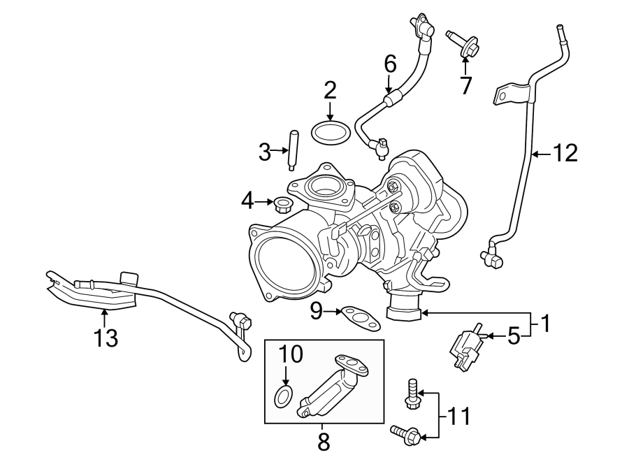 Ford Fusion Kit  Actuating  Turbocharger  Solenoid  Liter