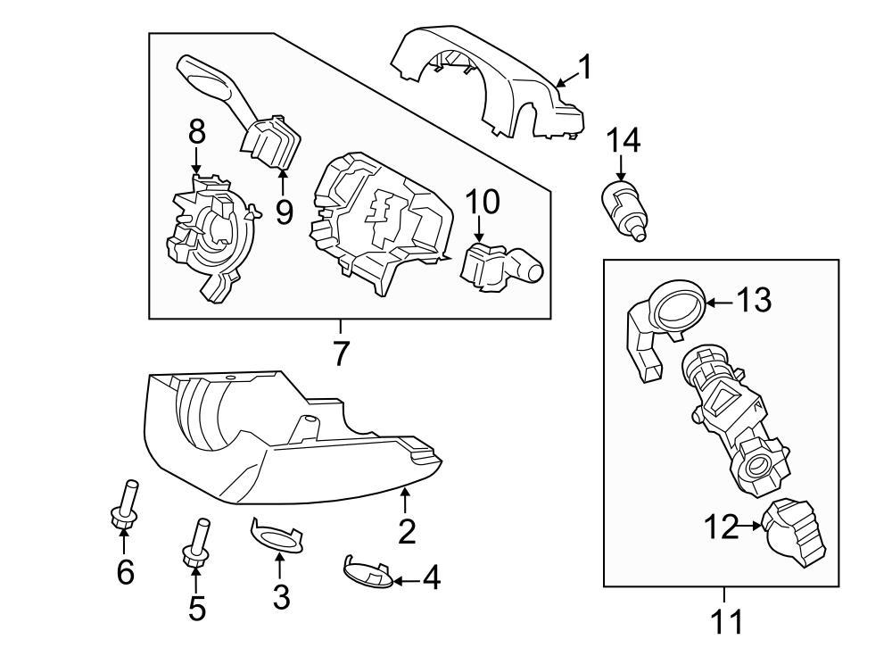 2014 ford fusion cyl  u0026 keys  ignition cyl  ignition lock