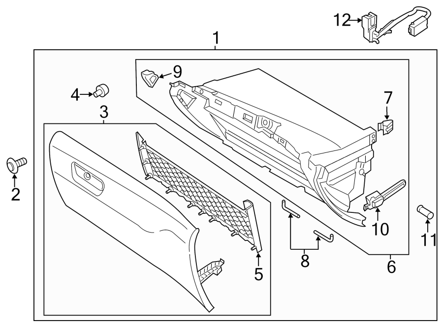 2013 Ford Fusion Clip  Retainer  Panel  Box  Panel  U0026 Trim