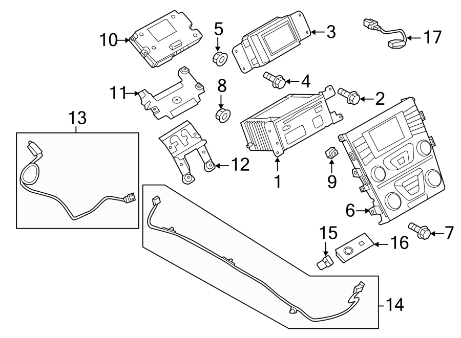 Ford Fusion Audio Auxiliary Jack  Reciever  Compartments