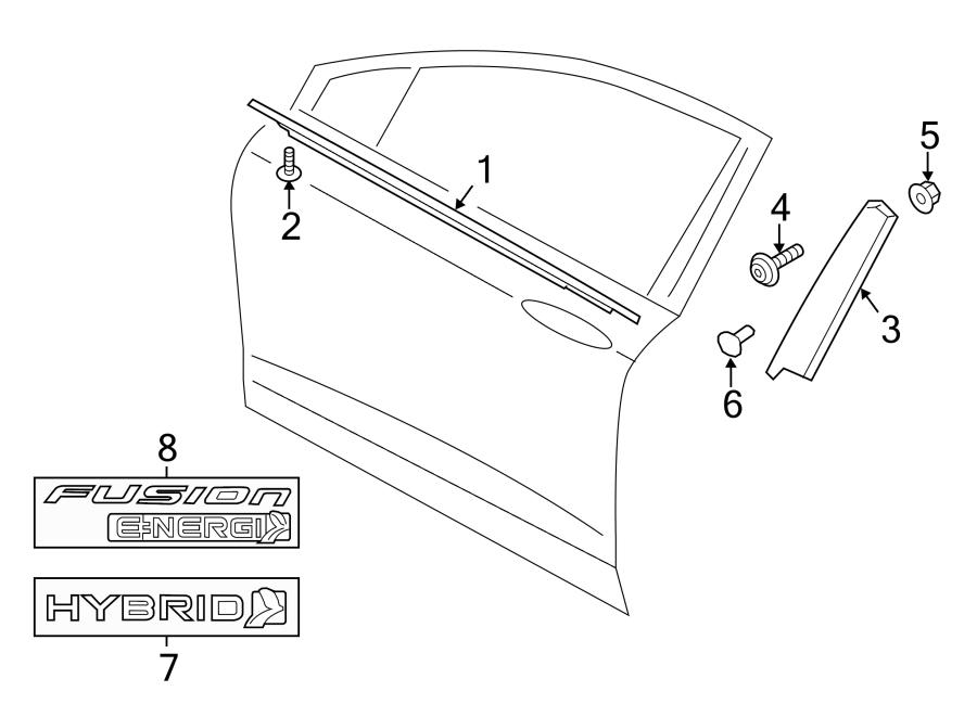 ford fusion belt  door  molding  weatherstrip  w u0026 39 strip