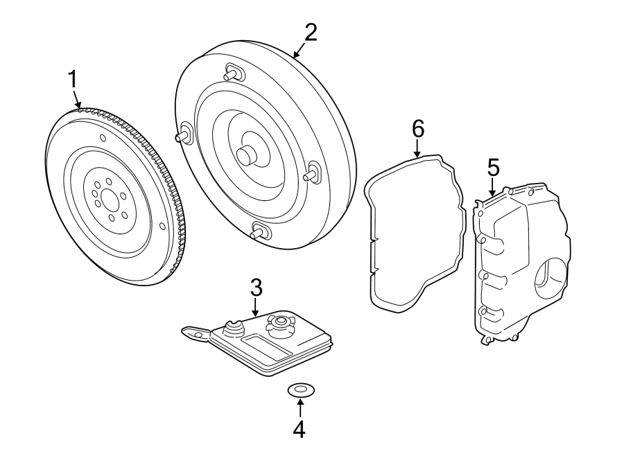 ford escape flywheel  automatic transmission flexplate