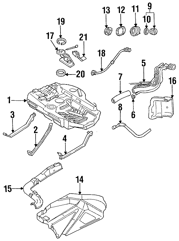 Ford Probe Electric Fuel Pump  From 3  95  Probe  System
