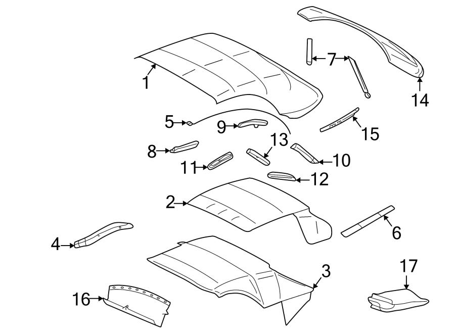 Ford Thunderbird Side Molding  Strap