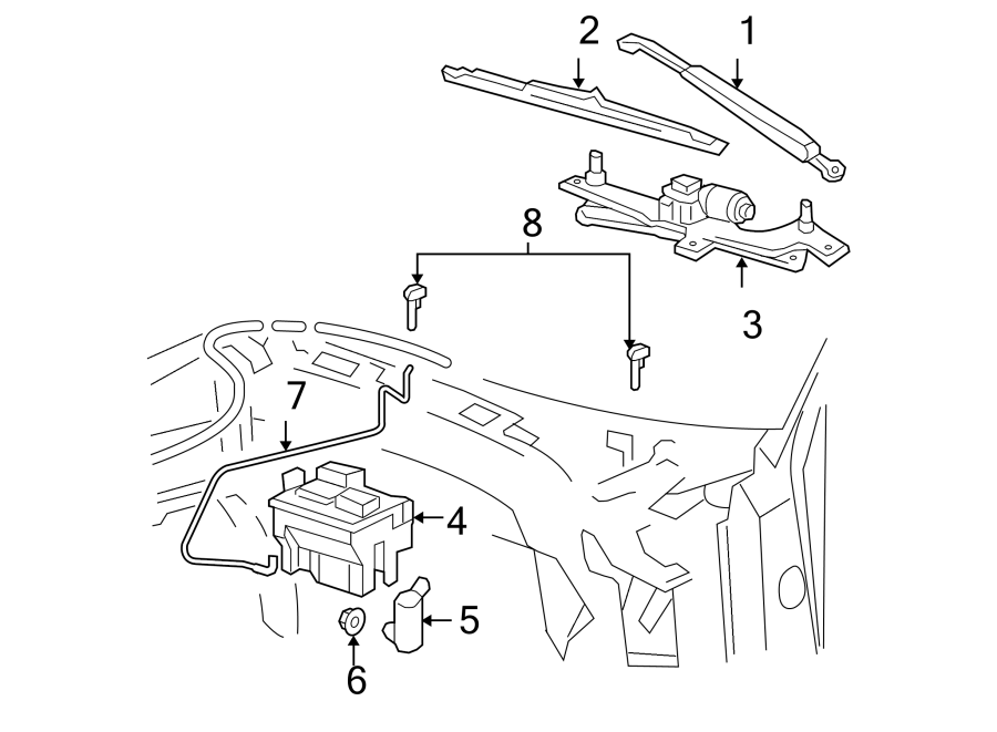 Ford F-150 Washer  Seal  Pump  Grommet