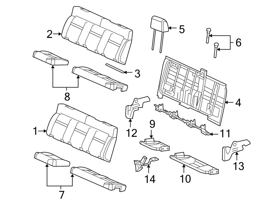 Ford F 150 Seat Parts : Ford f seat back pad protector left components