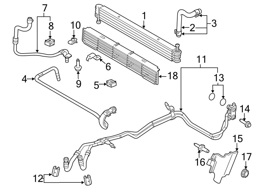 ford f-150 oil  cooler  tube  hose  transmission  3 5 liter  3 7 liter  at trans