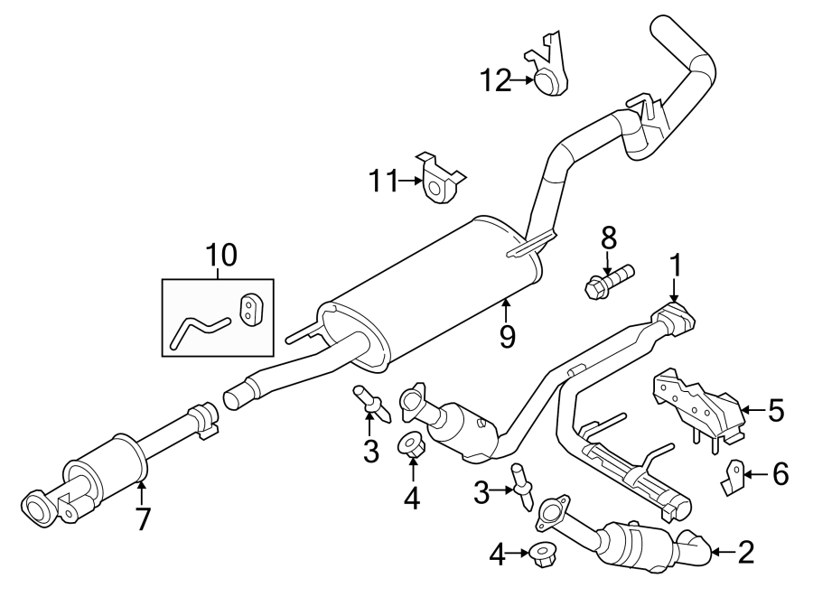 Ford F-150 Stud  Catalytic  Converter