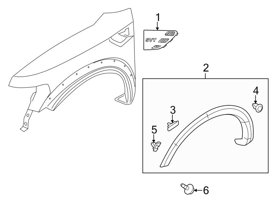 2011 ford f 150 fender flare clip wheel retainer opng. Black Bedroom Furniture Sets. Home Design Ideas