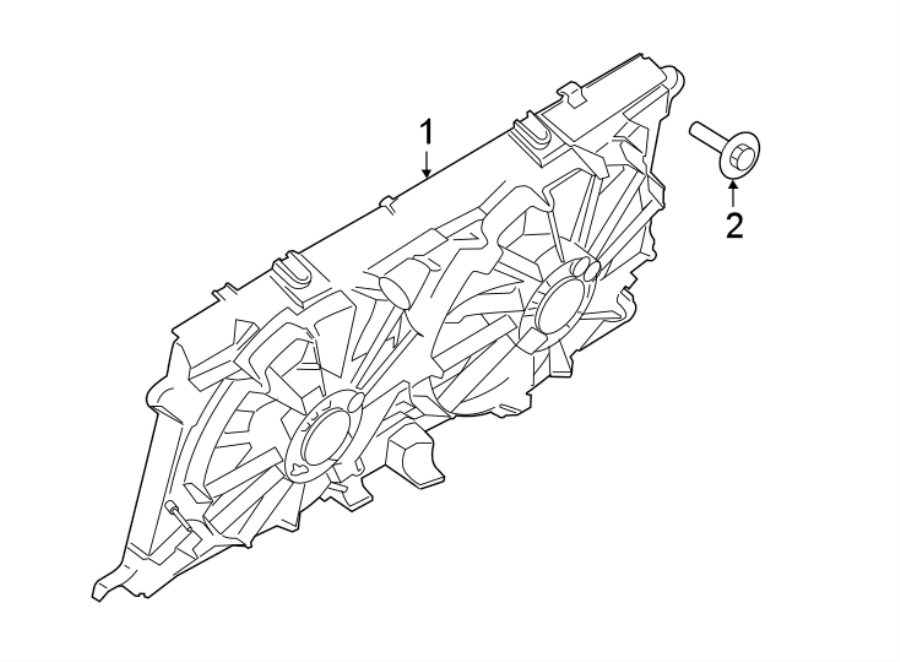 2019 Ford F-150 Engine Cooling Fan Assembly
