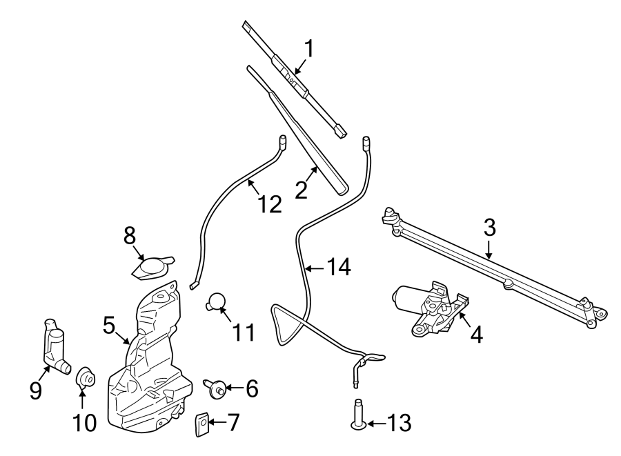 ford f-150 arm assembly - wiper  windshield wiper arm  2015-17  2017  2018  2018-19