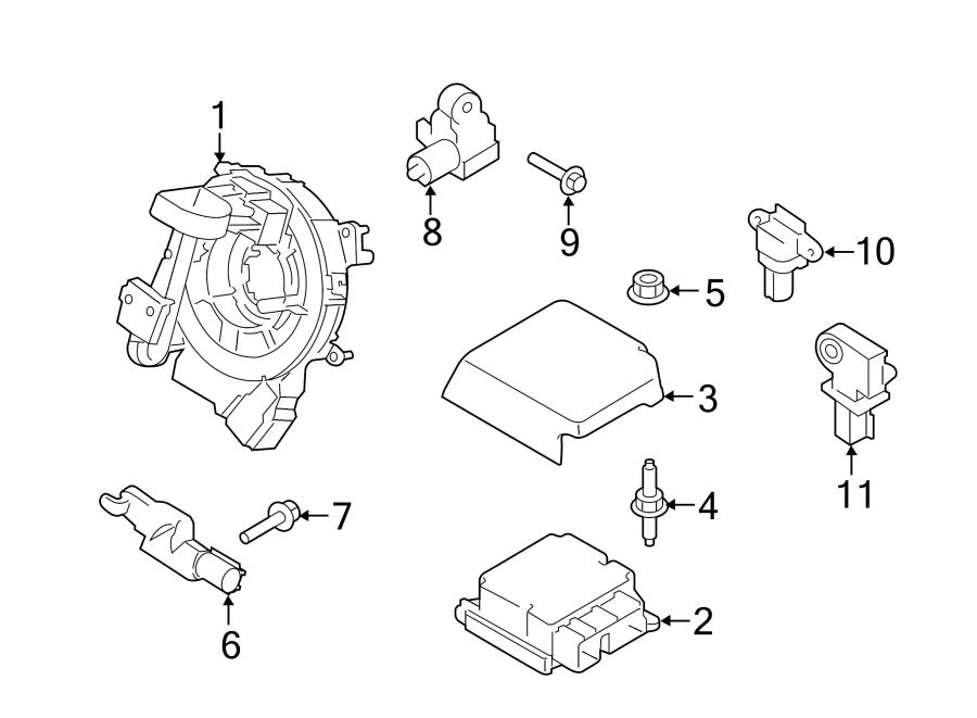 ford f-150 air bag control module  sensor assembly